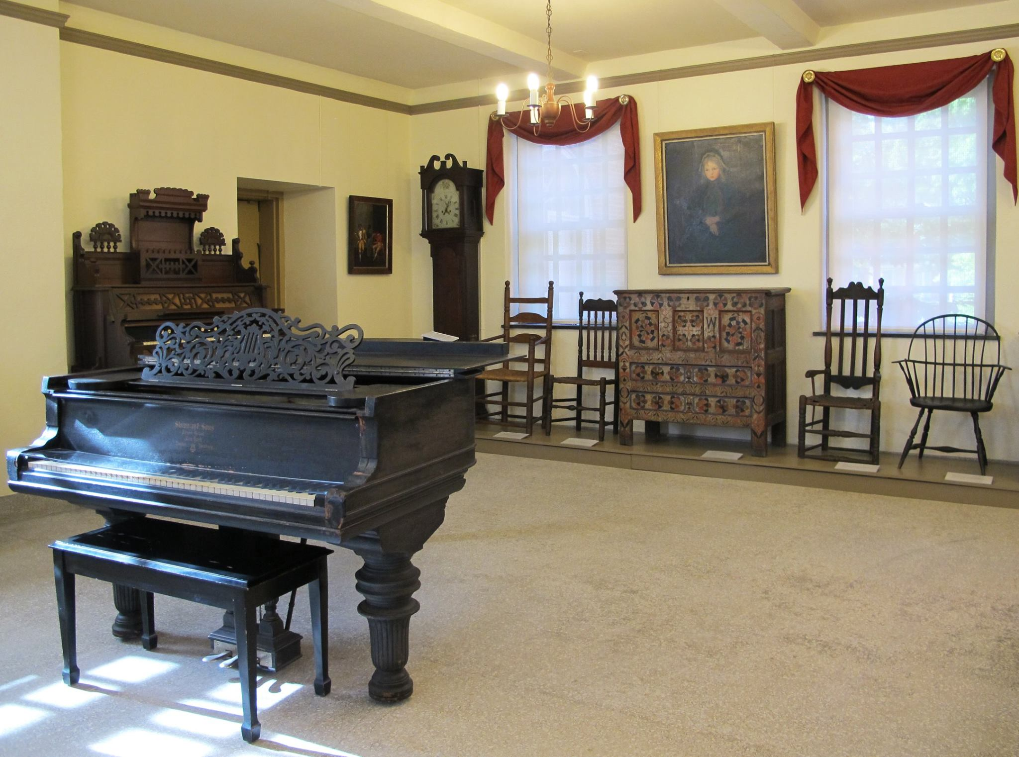 Memorial Hall's Music Room at PVMA, Old Deerfield MA