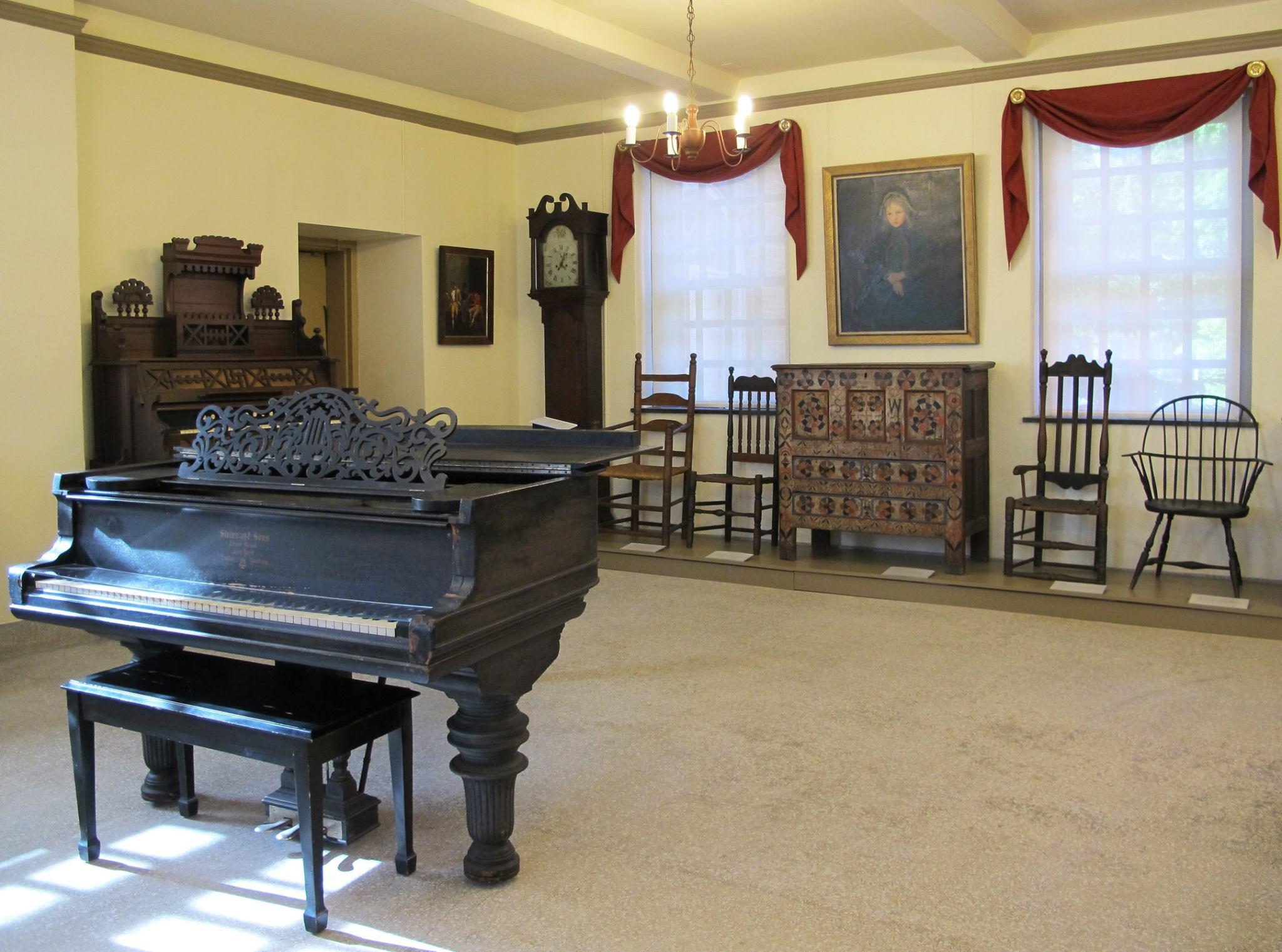 Memorial Hall's Music Room at PVMA, Old Deerfield MA