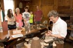 Steve Smithers teaches silversmithing at Historic Deerfield.