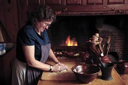 Hands on experiences like watching a baker make bread are a part of the experience at Historic Deerfield.