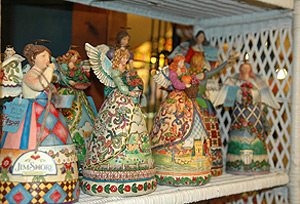 Beautiful angels are just a few of the things you can find at the Old Deerfield Country Store.