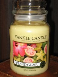 One of Yankee Candle's newest fragrences, Island Guava, has just arrived