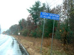 Sign erected after instruction from Deerfield Attractions on Rte 116 outside of South Deerfield MA. photo by Max Hartshorne, GoNOMAD.com.